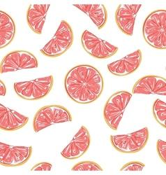 Seamless grapefruit pattern vector image