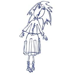 Cartoon vector silhouette of a girl vector