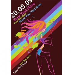 disco party poster template vector image