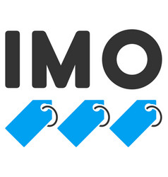 Imo tags flat icon vector