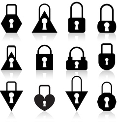 metal locks vector image