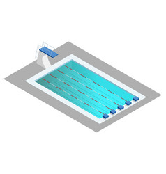 realistic isometric sport pool perspective design vector image