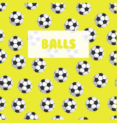 seamless football patternsoccer balls on a bright vector image