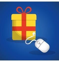 shopping online concept gift internet vector image