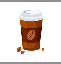 take away coffee paper cup street fast food cafe vector image