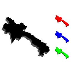 3d map of laos vector