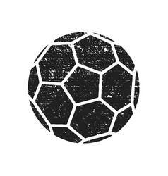 abstract grunge soccer ball for your poster flyer vector image
