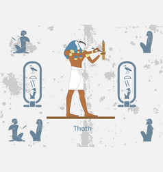 ancient egypt backgrounds thoth is one of the vector image