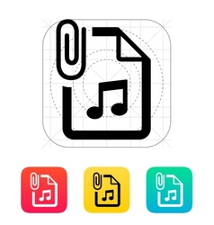 Attached Audio file icon vector