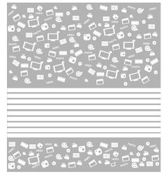 Background white movie icon set vector image