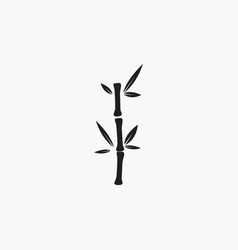 bamboo icon nature logo template vector image