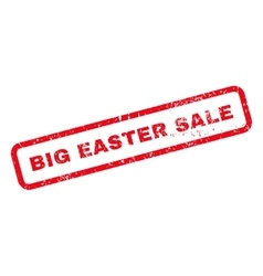 Big Easter Sale Text Rubber Stamp vector image