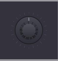 Black round knob button vector