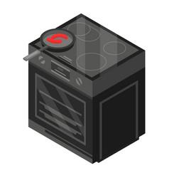 black stove icon isometric style vector image