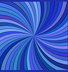 blue abstract psychedelic spiral ray burst stripe vector image