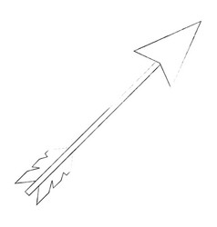 Bow arrow isolated vector