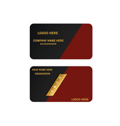 Business cards card vector