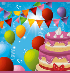 Carnival party celebration card vector