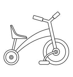 children tricycle icon outline style vector image