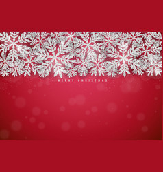 Christmas silver glittering snowflakes background vector
