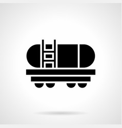 cistern wagon glyph style icon vector image