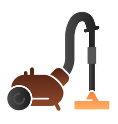 Cleanup flat icon vacuum cleaner color icons in vector