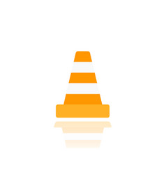 construction cone icon on white vector image