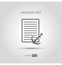 Copywriting icon Anchor text in linear style vector image