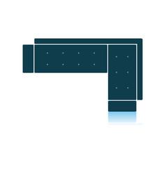 Corner sofa icon vector