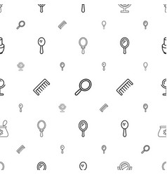 Cosmetics icons pattern seamless white background vector