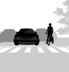 Cross road vector
