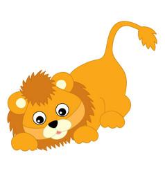 Cute balion sneaking lion cub vector