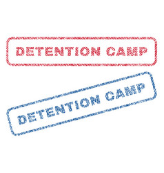 Detention camp textile stamps vector