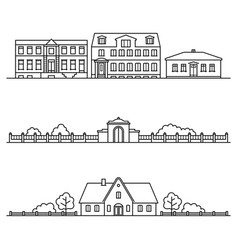 Different architectural structures city street vector