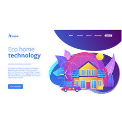 Eco house concept landing page vector