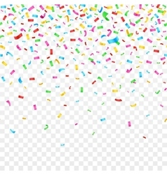 Falling confetti isolated on checkered background vector