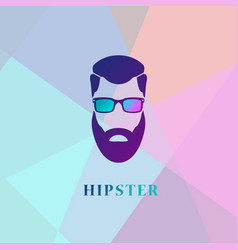 Fashion hipster style silhouette vector