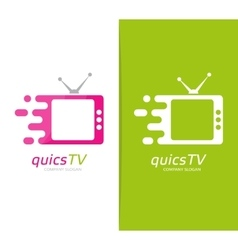 fast television logo combination Speed vector image