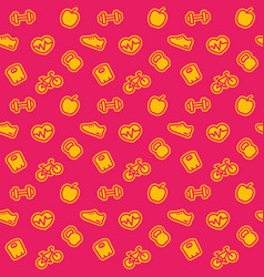 fitness pattern bright seamless background vector image