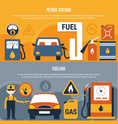 fuel pump flyer set vector image vector image