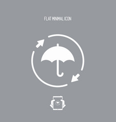 Full protection - minimal icon vector