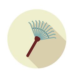 garden rake flat icon vector image