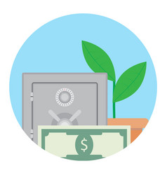 growth deposit in bank vector image