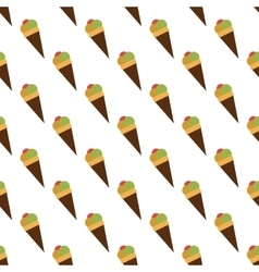 Ice cream pattern seamless vector