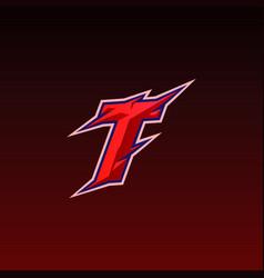 initial n gaming esport logo design template vector image