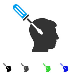 Intellect screwdriver tuning flat icon vector
