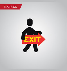 isolated directional flat icon exit vector image