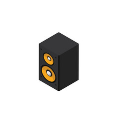 isolated loudspeaker isometric music box vector image