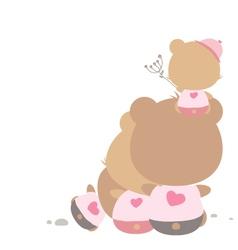 love concept teddy bear family vector image
