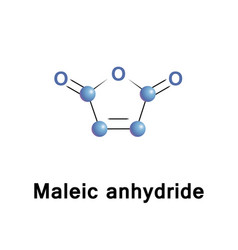 maleic anhydride molecule vector image